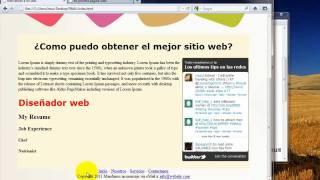 Como crear una pagina web completa en HTML - 5