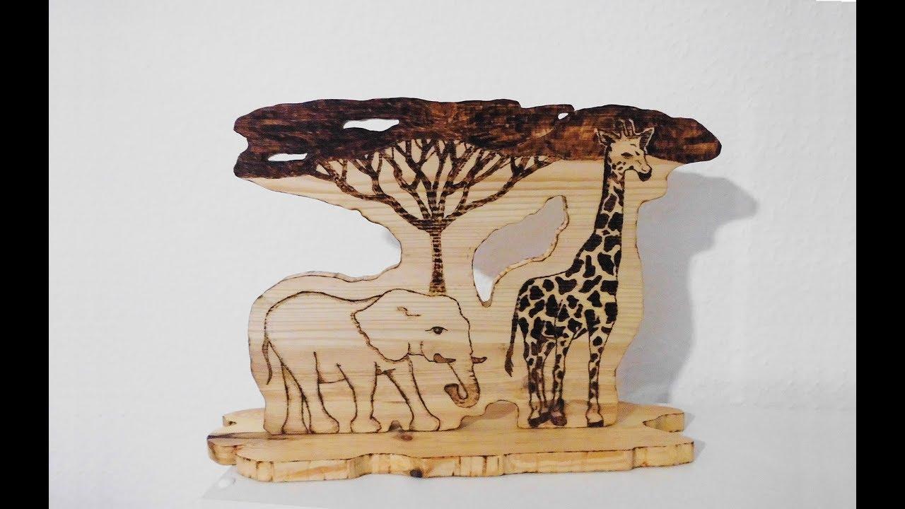 Afrika Style Dekoration / freihand zeichnen / LED Beleuchtung