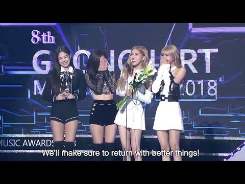 [190123] BLACKPINK Winning Speech Gaon Chart Music Awards 2019