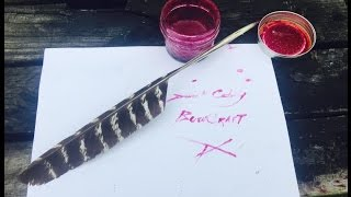 Making Poke Berry Ink and a Feather Quill
