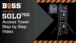 Setting up a BoSS SOLO 700 Mobile Access Tower