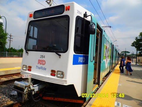 Denver RTD: D - Line (Light Rail) to Mineral... FULL RIDE!