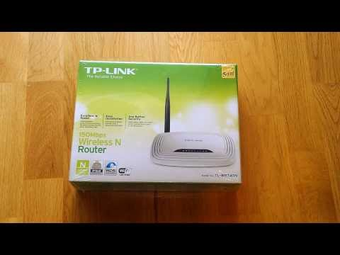 TP-LINK TL-WR740N 150Mbps Wireless N Router Unboxing