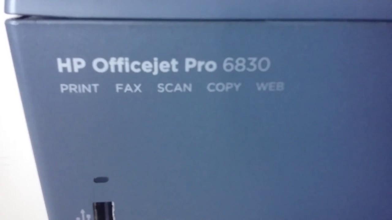 HP Officejet pro 6830 problema NAO COMPREM