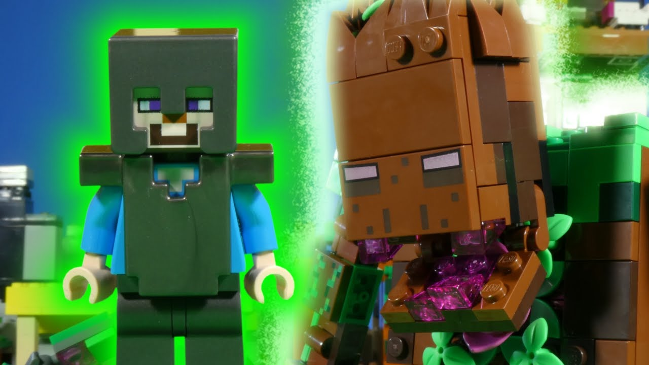 LEGO MINECRAFT 2021 MEGA COMPILATION - JUNGLE ABOMINATION - NETHERITE STEVE!!!
