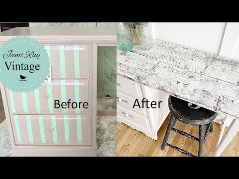 How To Fake Barn Wood | Furniture Makeover