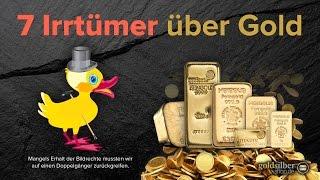 7 Irrtümer über Gold – kennen Sie alle?