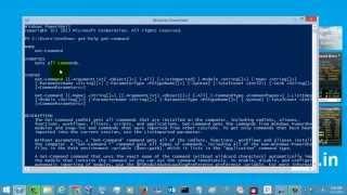 Windows Powershell Tutorial - Get-Command