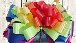 How to Make Multicolored Gift Bow Step by Step Tutorial