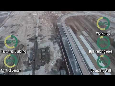 BRT Peshawar Metro Bus Rapid Transit 7 February  2019 Complete Route Status Construction progress HD