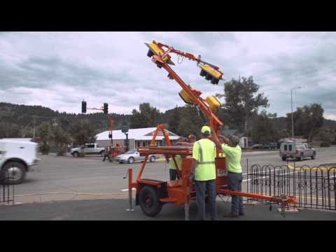 Largest Deployment of Portable Traffic Signals