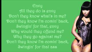 Nicki Minaj - Envy Lyrics Video