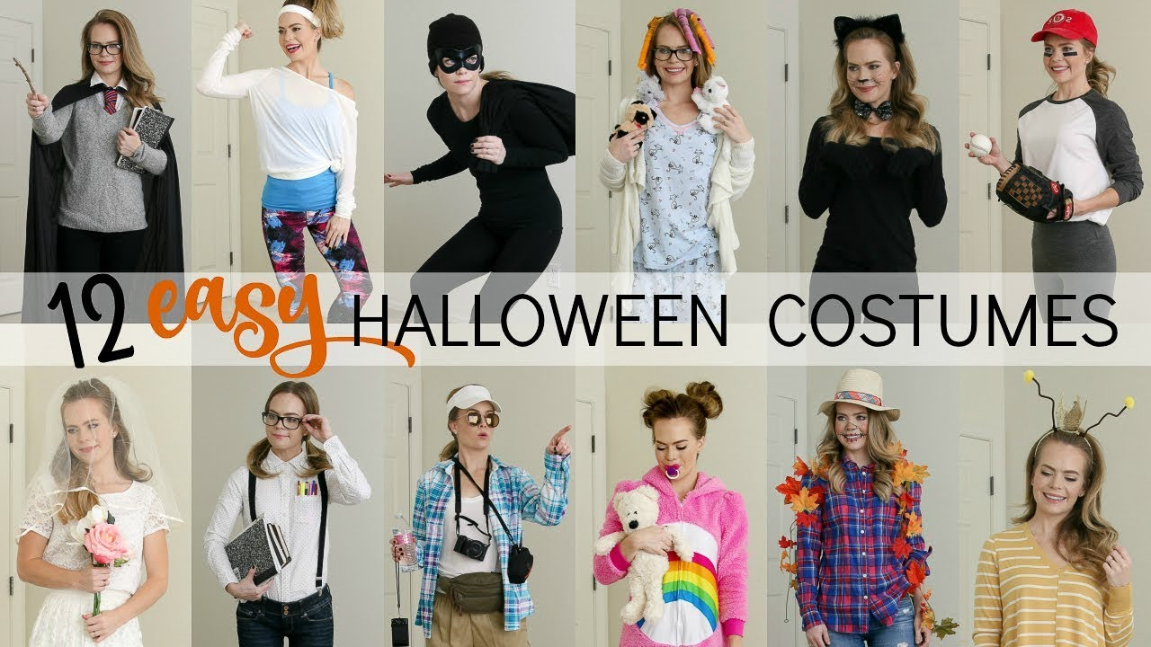 12 Easy Last Minute Halloween Costumes Missy Sue Youtube