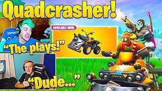 Ninja & Streamers USE The *NEW* Quadcrasher Vehicle! Fortnite Funny & Best Moments