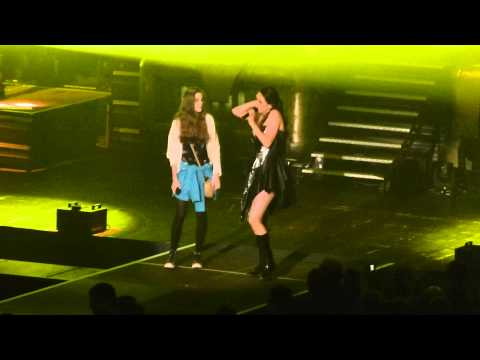 Little Girl on stage with Within Temptation-Summertime Sadness-Frankfurt 2014