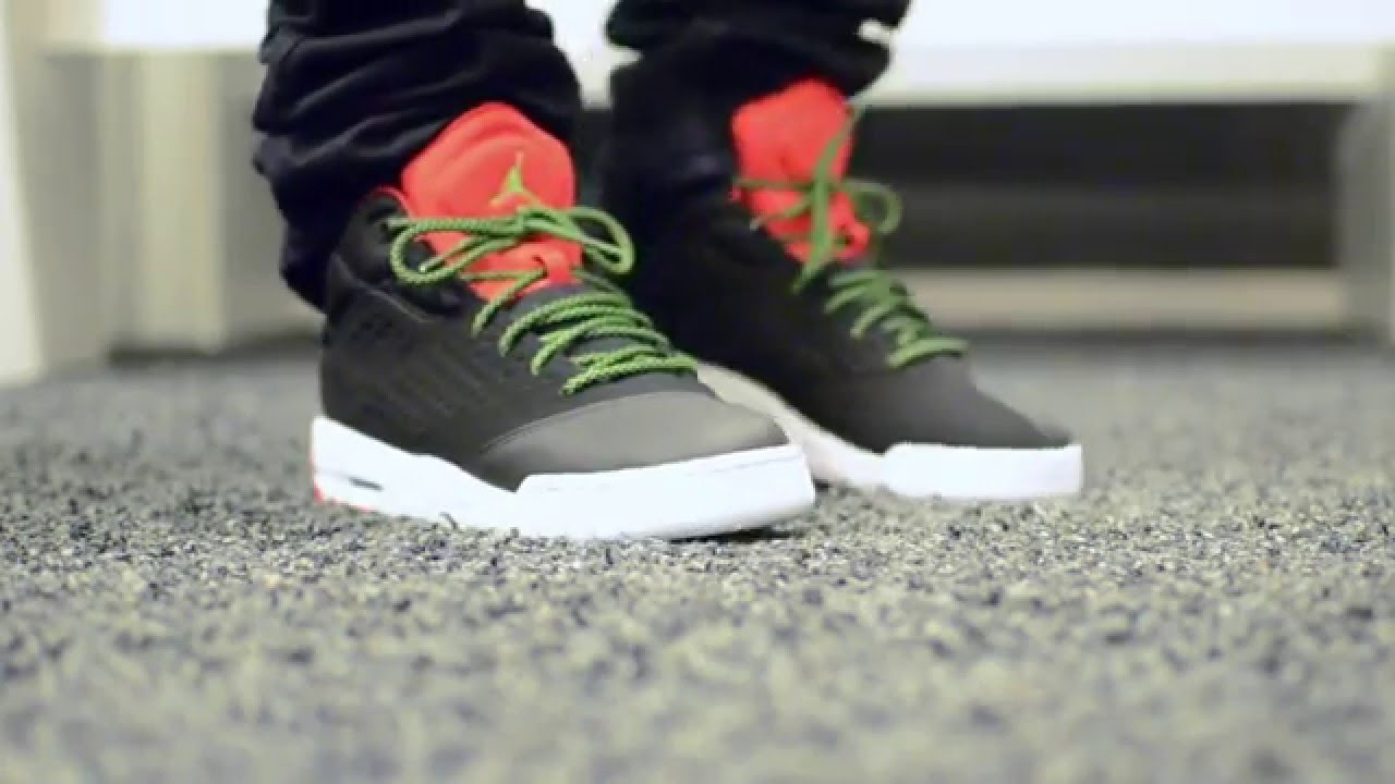competitive price e5604 511ab Air Jordan New School BG - BlackRedGreen + On feet - YouTube