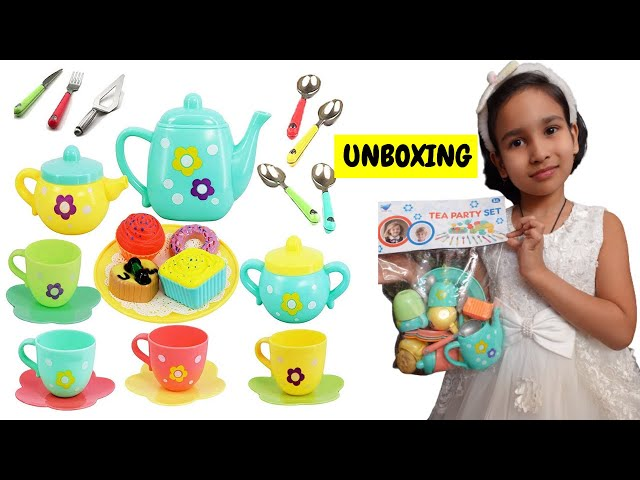 Tea Party Set Unboxing / Cooking Set Unboxing / Hindi | #LearnWithPari #Aadyansh