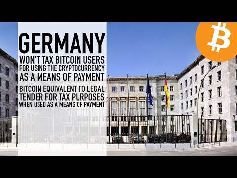 Germany Won't Tax Bitcoin Users For Using The Cryptocurrency As A Means Of Payment