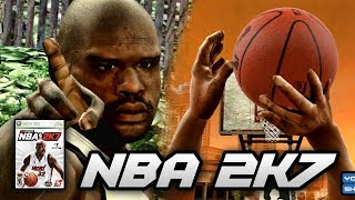 WE LOST TO SHAQ IN A FREE THROW CONTEST!! | THROWBACK NBA 2K7 PS3 GAMEPLAY!!