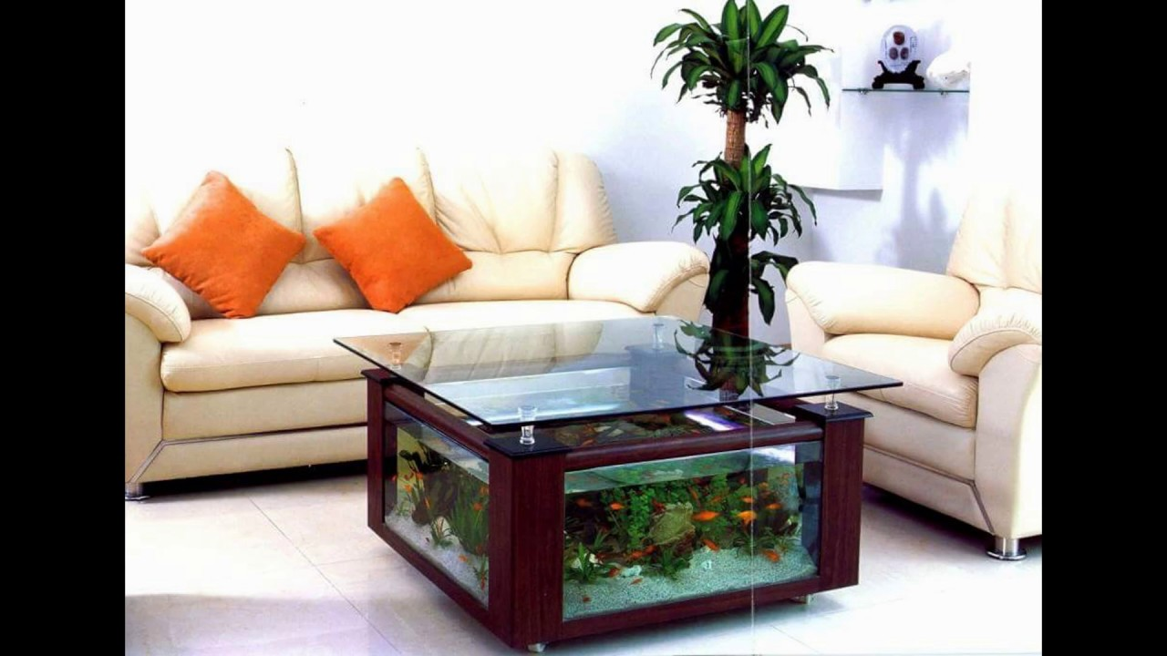 Beau Beautiful Design Of Fish Tank Living Room Table