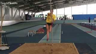 Pole Vault plant drill into Long Jump pit