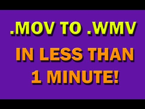 Convert MOV files to WMV (no downloading needed)