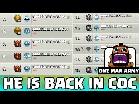 1 MAN ARMY IS BACK IN CLASH OF CLANS WITH 100 ACCOUNTS | CLASH OF CLAN