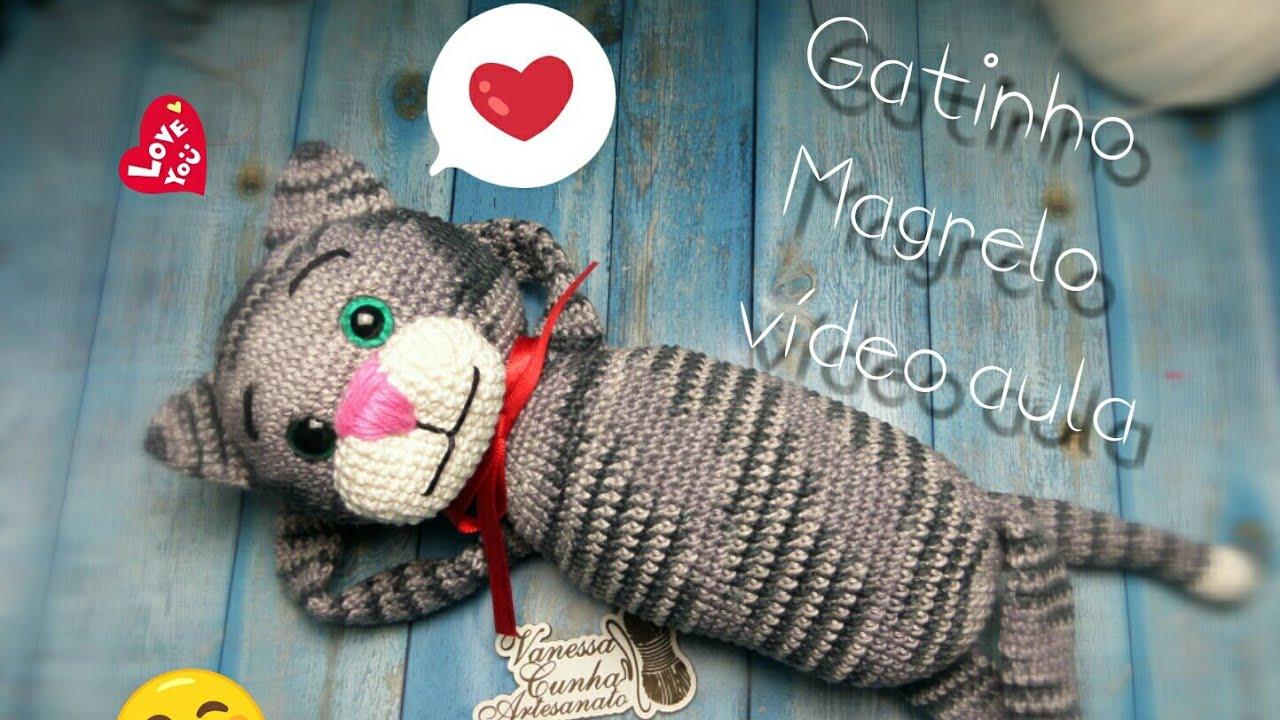 Gato Amigurumi Llavero : Amigurumi gato parte cat crochet youtube