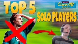 TOP 5 Fortnite Battle Royale Best SOLO Players | Mejores jugadores del Ranking SOLO | 2018