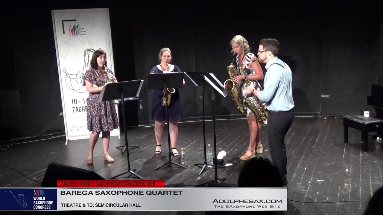 Diptych by Angus Davison   Barega Saxophone Quartet   XVIII World Sax Congress 2018 #adolphesax