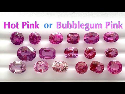Vivid Pink or Hot Pink or Bubblegum Pink Sapphire? (Understanding Colors of Pink Sapphires)