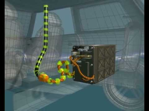 Lithium ion batteries in hybrid vehicles, 3D animation ...