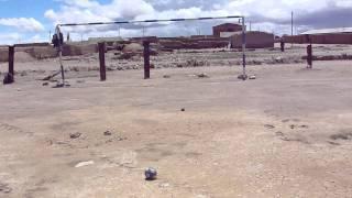 Penal sin arquero en la localidad de Colchani - Bolivia (Uyuni)
