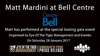 Matt Mardini Crooner - Singer at Bell Centre - Mobile Capture Mix