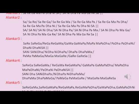 Learn Raaga Basics: Basic Training - Alankaar / Paltaa