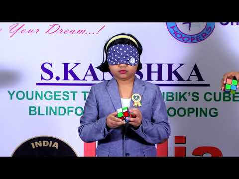 S. Kanishka (YOUNGEST TO SOLVE RUBIK'S CUBE BLINDFOLDED WITH HOOPING)