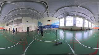 Бадминтон Липецк Видео 360 градусов Тренировка 2019 02 17