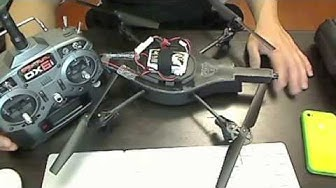 Parrot AR Drone RC mod Spektrum DX6i radio transmitter
