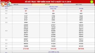 Kết quả xổ số Miền Nam trực tiếp ngày 12/11/2018. XSMN Cà Mau, Đồng Tháp, TP.HCM