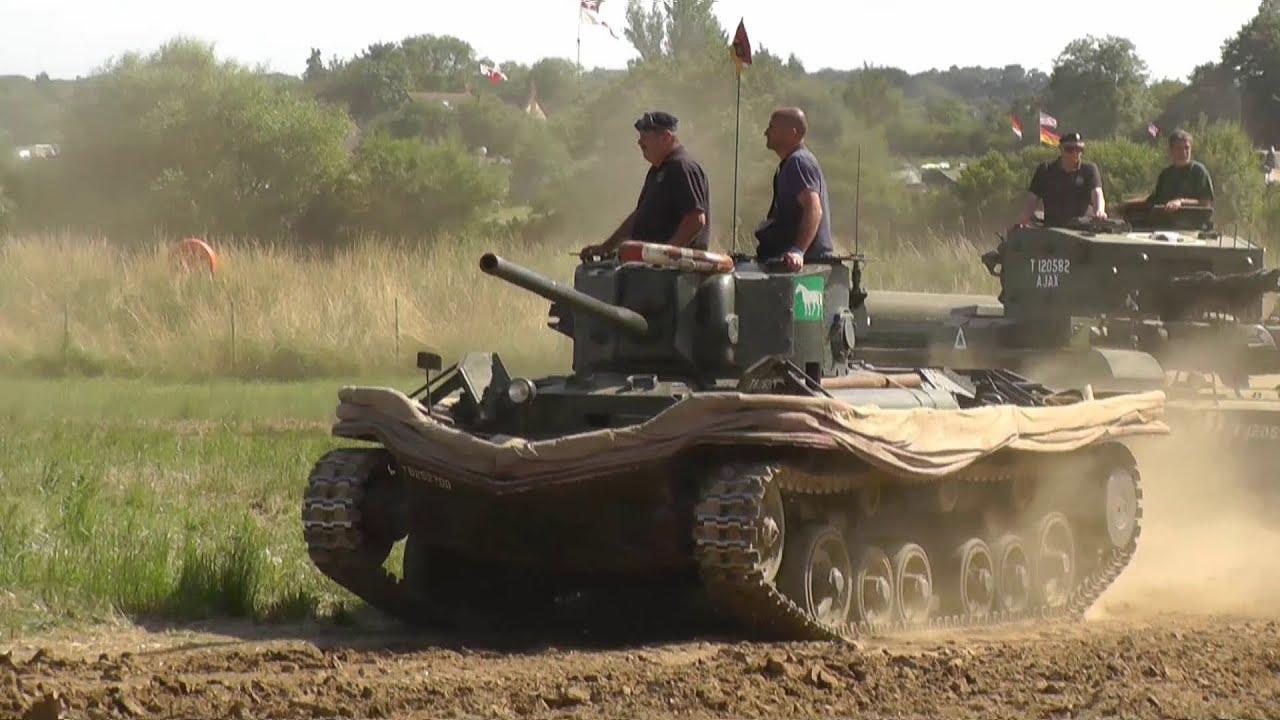 WW2 Valentine Tank At War U0026 Peace   Inc Slow Motion   YouTube