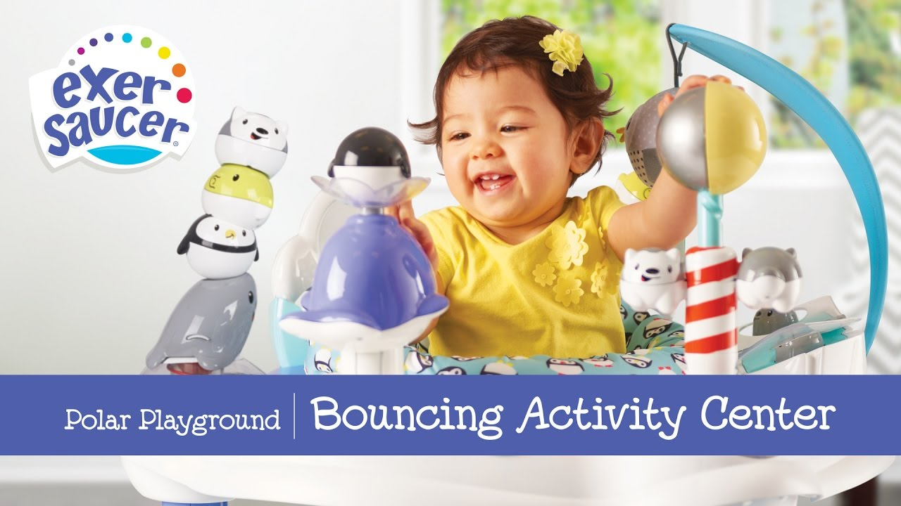 119ec8322fdb ExerSaucer Polar Playground Bouncing Activity Center