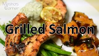 Grilled Salmon With Lemon Dill Aoli