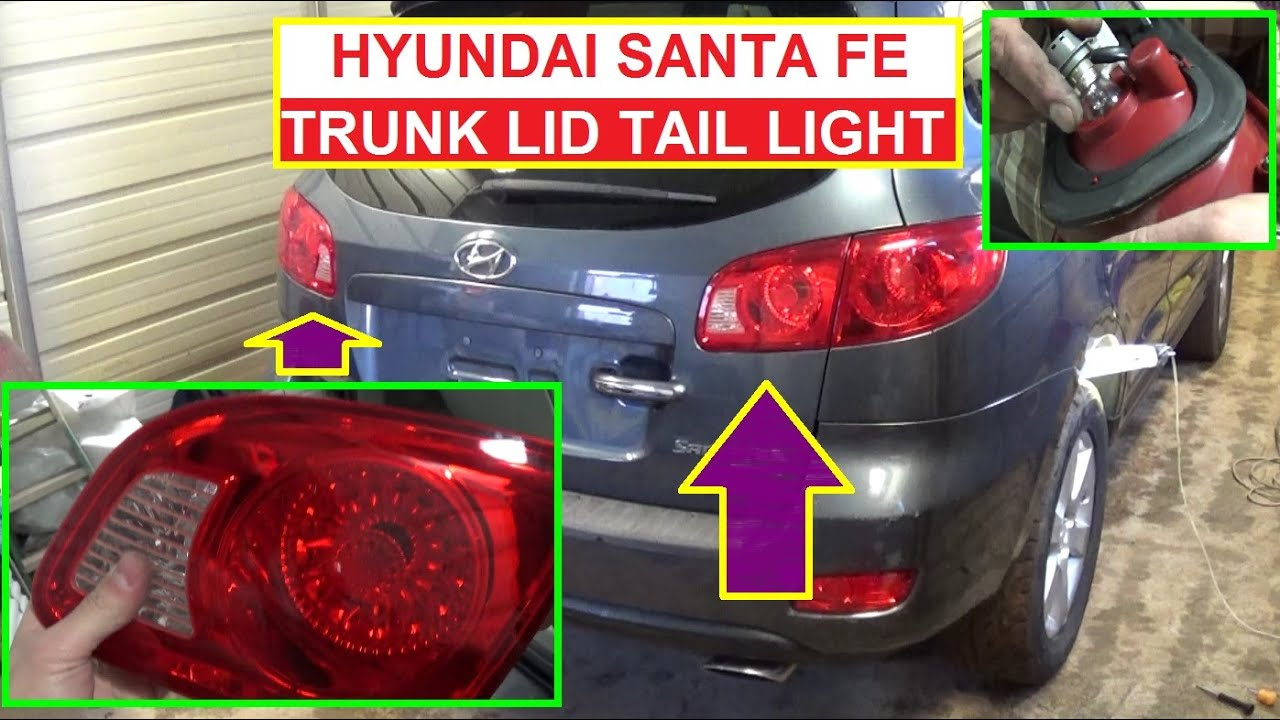 maxresdefault trunk lid tail light removal and bulb replacement hyundai santa fe 2011 hyundai sonata tail light wiring harness at panicattacktreatment.co