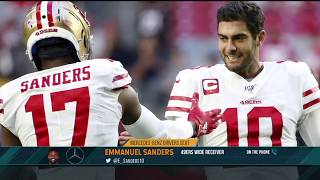 49ers WR Emmanuel Sanders: How Garoppolo Reminds Him of Peyton Manning | The Dan Patrick Show