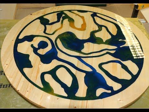 Runde Tischplatte mit Epoxidharz gießen |  resina epoxica