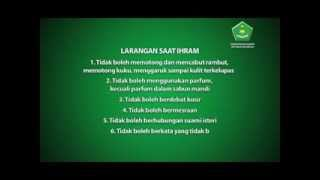 Video Manasik Haji ke 1