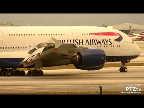 British Airways BA209 A380 Arrives MIA on 3/25/2017