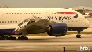 British Airways BA209 A380 Arrives MIA on 3/25/2017