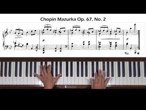 Chopin Mazurka Op. 67, No. 2 Piano Tutorial