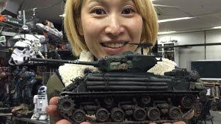 遂に戦車に手を出した Vol2 シャーマン塗装。FURYと名付けた!の巻